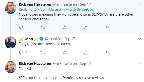 twitter screenshot rich review snippets