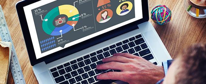 laptop con google analytics
