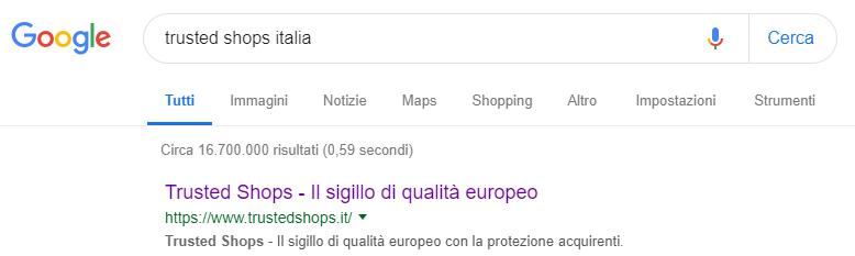 Ottimizzazione SEO risultato google