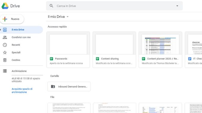 documenti su Google Drive