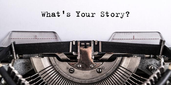 macchina da scrivere per storytelling