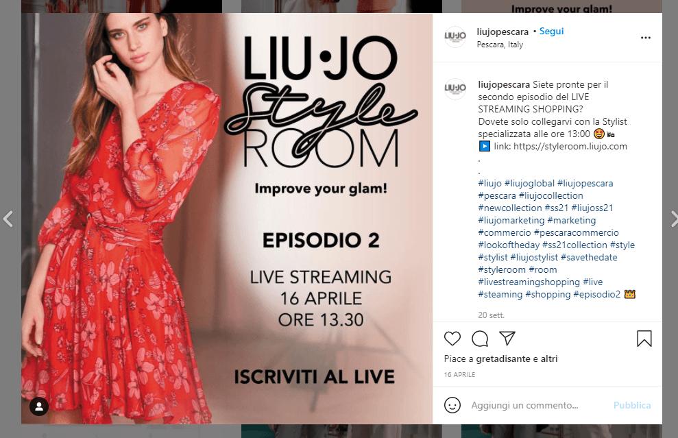 liu-jo-live-streaming-shopping-instagram