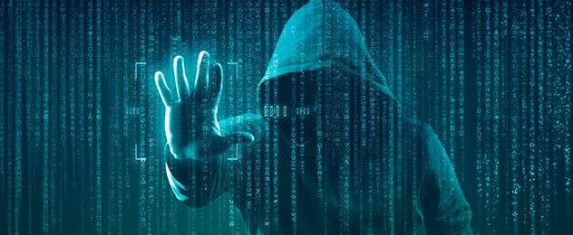 hacker incappucciato