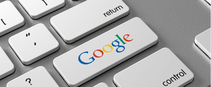 tasto con scritta Google