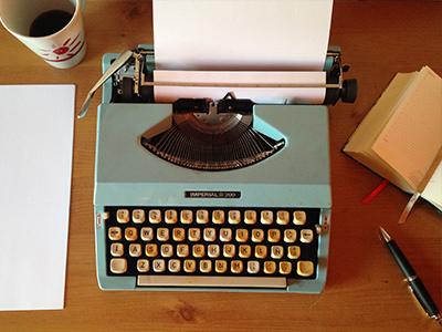 ottimizzazione SEO macchina da scrivere