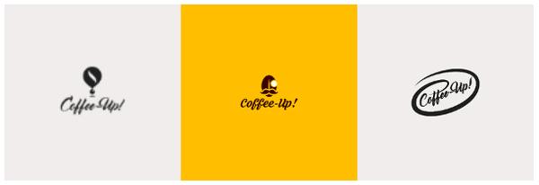 tre loghi diversi di CoffeeUp